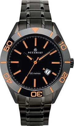 Accurist Mens Analogue Classic Quartz Watch with Solid Stainless Steel Strap 7224