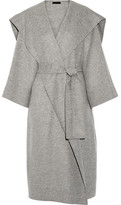 The Row Lanja Oversized Woven Wrap Coat - Light gray