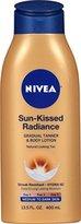 Nivea Sun-Kissed Radiance Medium to Dark Skin Gradual Tanner & Body Lotion 13.5 Fluid Ounce