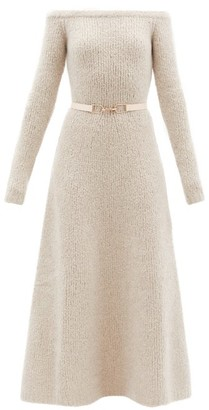 Gabriela Hearst Gertrude Off-the-shoulder Cashmere-blend Dress - Light Beige