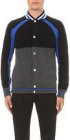 Givenchy Colour-block wool bomber jacket
