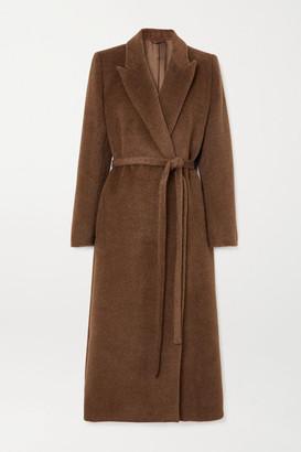 Totême Belted Brushed-alpaca Coat - Brown