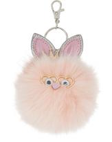 Accessorize Princess Bunny Pom Pom Keyring