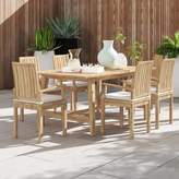 Anthony Logistics For Men Foundstone Outdoor Patio 7 Piece Teak Dining Set with Cushions Foundstone