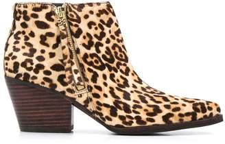 Sam Edelman leopard print ankle boots