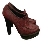 Prada Burgundy Leather Flats