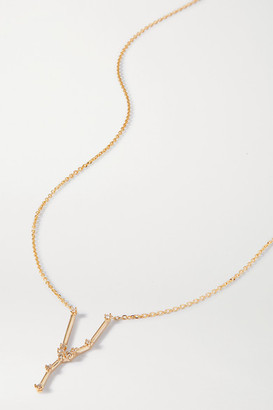 Sebastian Celestial Taurus 10-karat Gold Diamond Necklace - one size