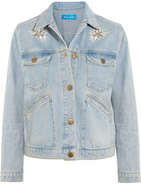 MiH Jeans Embroidered Denim Jacket - Mid denim
