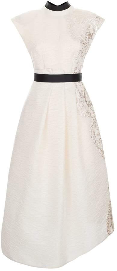 Amanda Wakeley Floral Jacquard Midi Dress