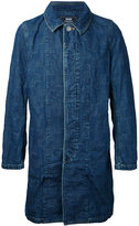 Anrealage long denim jacket - men - cotton - 48