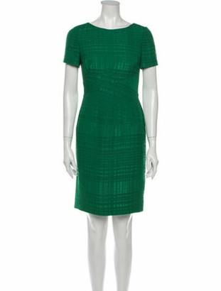 Oscar de la Renta 2013 Mini Dress Green
