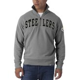 '47 Pittsburgh Steelers - Mens Striker 1/4 Zip Premium Long Sleeve Shirt