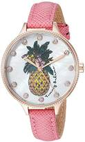 Tommy Bahama Women's Quartz Stainless Steel and Leather Casual Watch, Color:Pink (Model: TB00060-03)