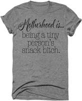 Wicked Buff Sportswear Motherhood Is Being A Tiny Person's Snack Bitch Funny Women's Moms Tshirt