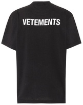 Vetements Printed cotton shirt