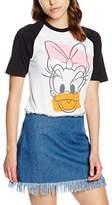 Disney Women's Daisy Head Plain Short Sleeve T-Shirt