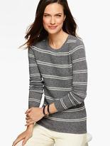 Talbots Classic Crewneck Sweater - Stripes