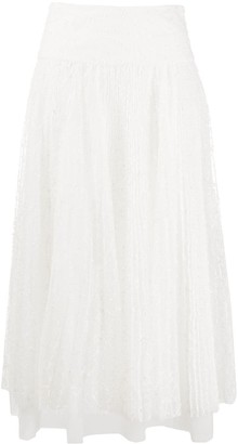 Ermanno Scervino Layered Lace Midi Skirt