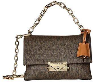 MICHAEL Michael Kors XS Chain Crossbody (Optic White) Handbags