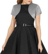 Black Butterfly Clothing Black Butterfly Satin Bolero Jacket - Short Sleeve (, US)