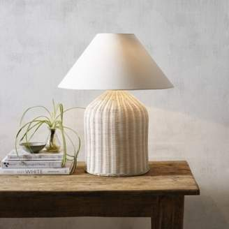 The White Company Rattan Large Table Lamp, Natural, One Size