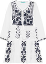 Melissa Odabash Millie Embroidered Cotton-voile Mini Dress - White
