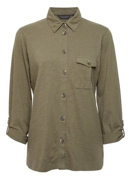 Dorothy Perkins Womens Khaki Utility Shirt, Khaki