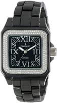 Peugeot Women's PS4897BK Swiss Ceramic Swarovski Crystal Black Dial Watch