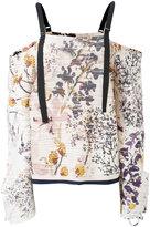 Aviu floral off the shoulder top - women - Cotton/Polyamide/Spandex/Elastane - 44