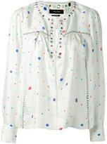 Isabel Marant eyelet long sleeved blouse