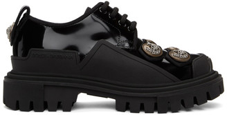 Dolce & Gabbana Black Button Trekking Derbys