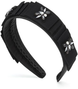 Erdem Embellished ribbon headband
