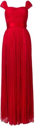 Dolce & Gabbana short-sleeve flared maxi dress
