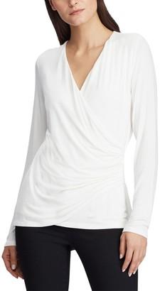Lauren Ralph Lauren Wrapover T-Shirt with Long Sleeves