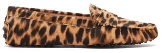 Tod's Gommino Leopard-print Calf-hair Loafers - Womens - Leopard