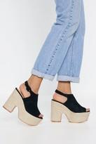 Nasty Gal Womens Rise Above Espadrille Platform Sandals - black - 3