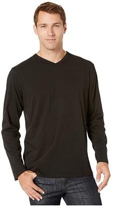 Mod-o-doc Long Beach Long Sleeve V-Neck (Black) Men's T Shirt