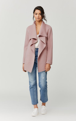 Soia & Kyo BRIT belted double-face wool coat
