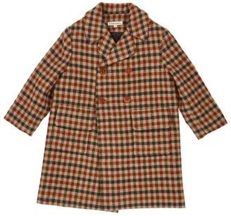 Caramel Eagle Check Tweed Coat (8-12 Years)