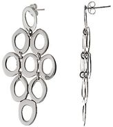 JCPenney Sterling Silver Oval Cluster Earrings