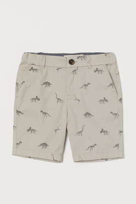 H&M Cotton Chino Shorts - Brown