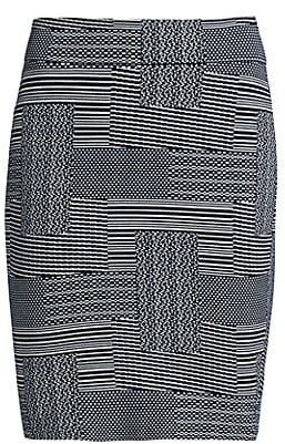 Akris Punto Crosshatch Cotton & Wool Pencil Skirt