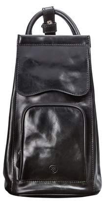Maxwell Scott Bags Maxwell Scott Womens Italian Leather Backpack - Carli Black