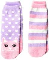 Jefferies Socks Cat Fuzzy Slipper Socks 2-Pack Girls Shoes
