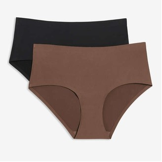 Joe Fresh Women's 2 Pack Bonded Cheeky, Taupe (Size XL)