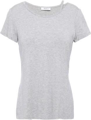 Bailey 44 Cutout Melange Jersey T-shirt