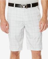 Callaway Men's Performance Plaid Flat-Front Shorts