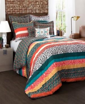 Lush Decor Bohemian Stripe 7-Pc. King Comforter Set Bedding