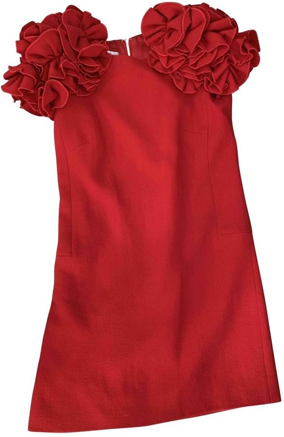 Edward Achour Red Tweed Dress for Women