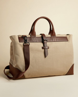 Ted Baker GIANTE Jute and recycled polyester canvas holdall